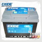 Аккумуляторная батарея Exide (62AH/540A) EB620