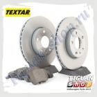 Комплект передних тормозных дисков с колодками Textar