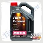 Масло моторное Motul 8100 X-Clean Plus 5W-30 (5л.) 504.00/507.00