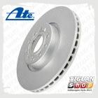 Диск тормозной вентилируемый передний Тигуан ATE 24012501581