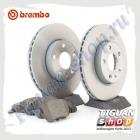 Комплект передних тормозных дисков с колодками Brembo