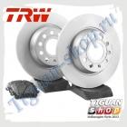 Комплект задних тормозных дисков с колодками TRW