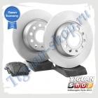 Комплект задних тормозных дисков с колодками VAG Economy