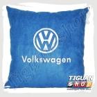Подушка с логотипом VW синего цвета