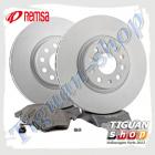 Комплект передних тормозных дисков с колодками Remsa