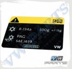 Табличка информационная VAG 5Q0010008D
